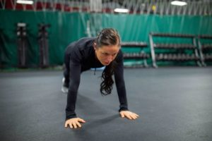 Razor Sharp Fitness Member Spotlight Leah Morris Pushups